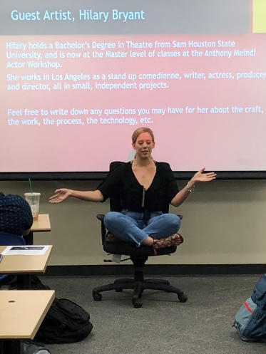 The eldest, guest lecturing in a collegiate film class, September